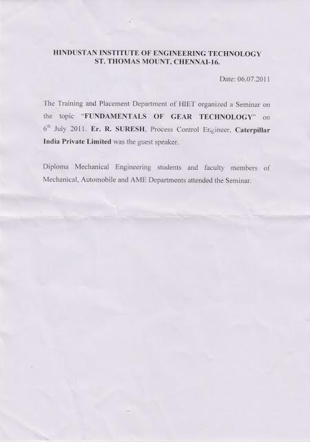 HIET Seminar Tamil Nadu Polytechnic