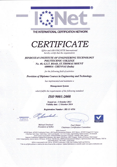 ISO Certification For HIET