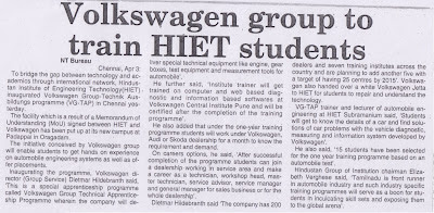 Volkswagen Group To Train HIET Students