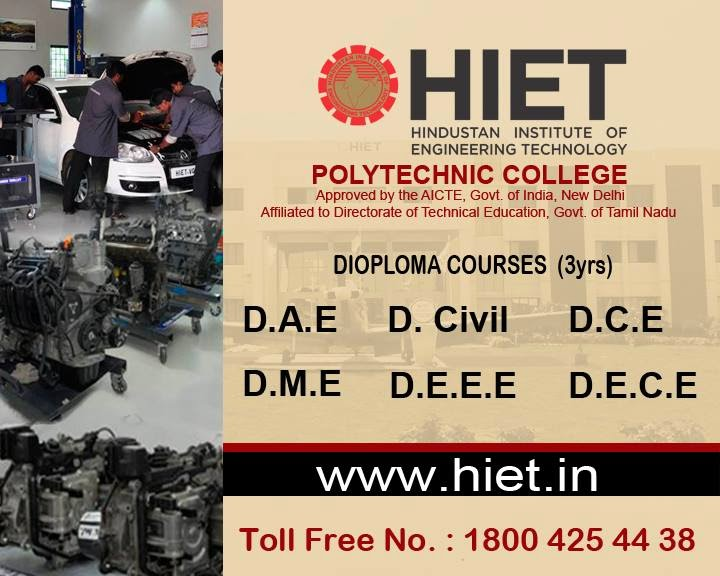 Hindustan Institute Of Engineering Technology – Polytechnic College,chennai