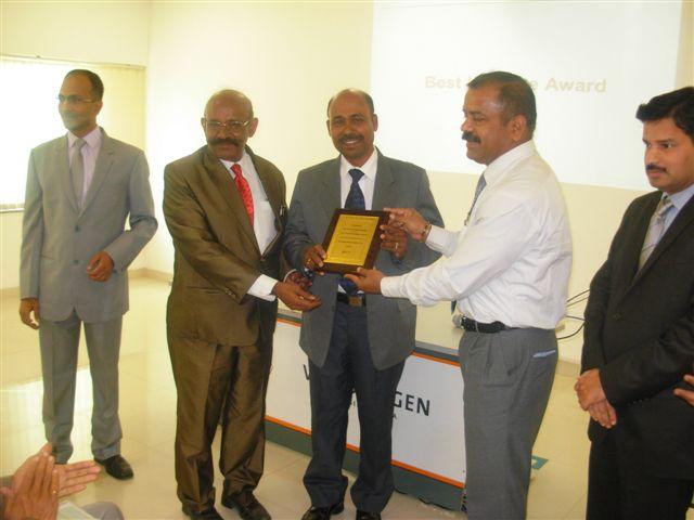 Best VG-TAP Institute Award 2013