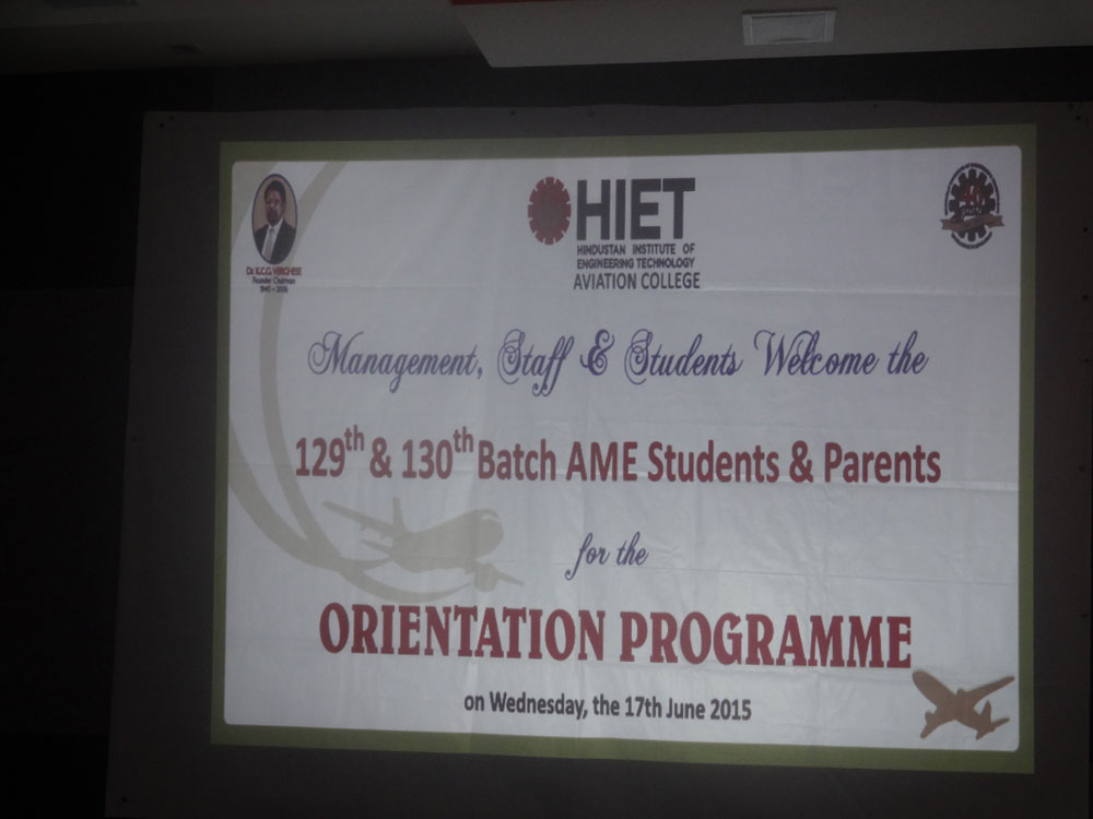 Orientation Programme 129th & 130th Batch of AME - June 17