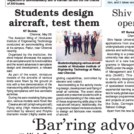 Students Design Aircraft