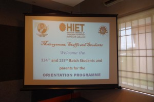 AME Orientation Programme Batch 134 & 135