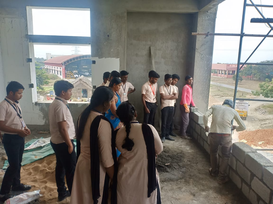 Civil Students visited Mustang Hostel Building Construction