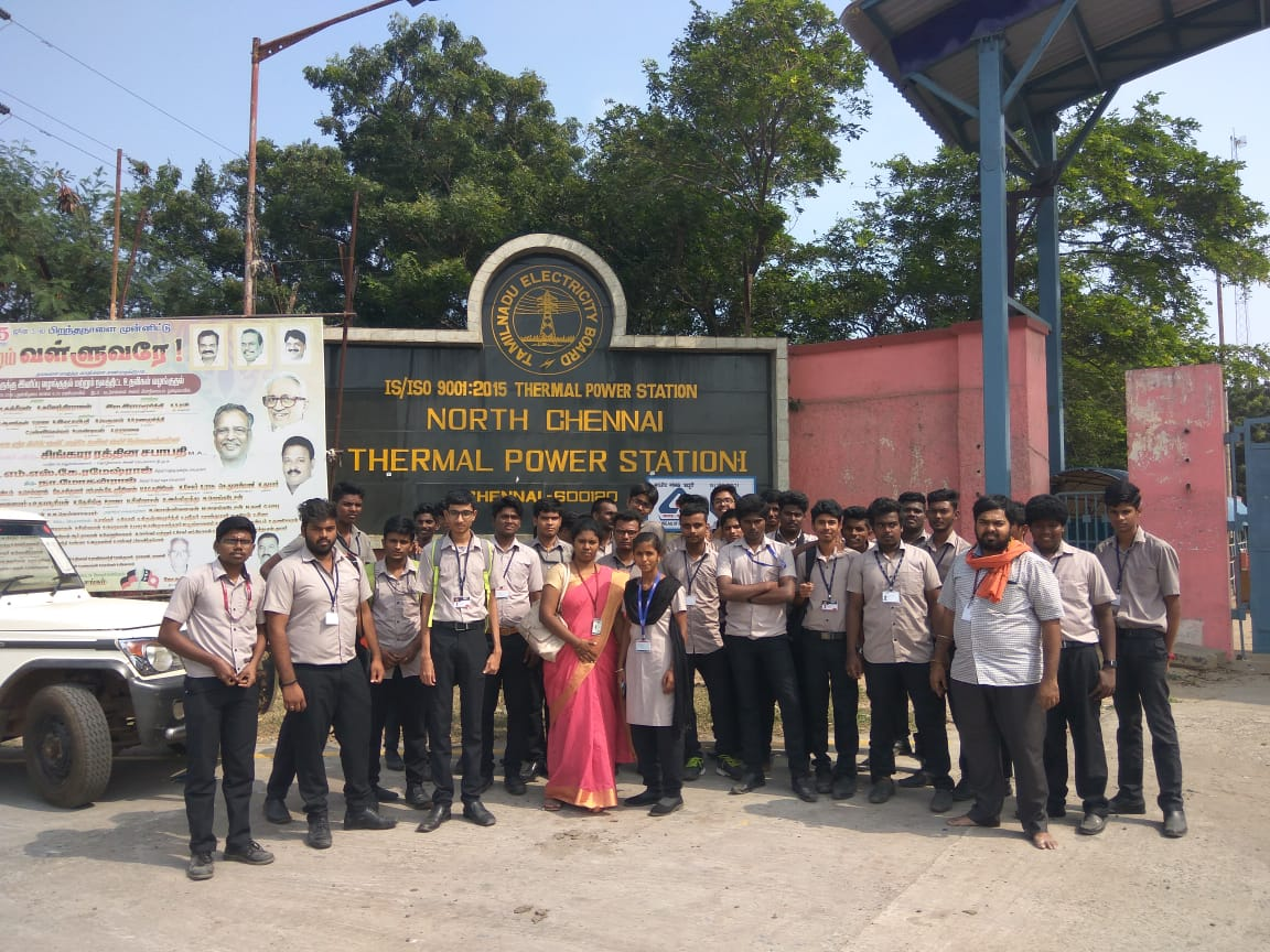 Industrial Visit to M/s Thermal Power Plant by EEE & ECE Students