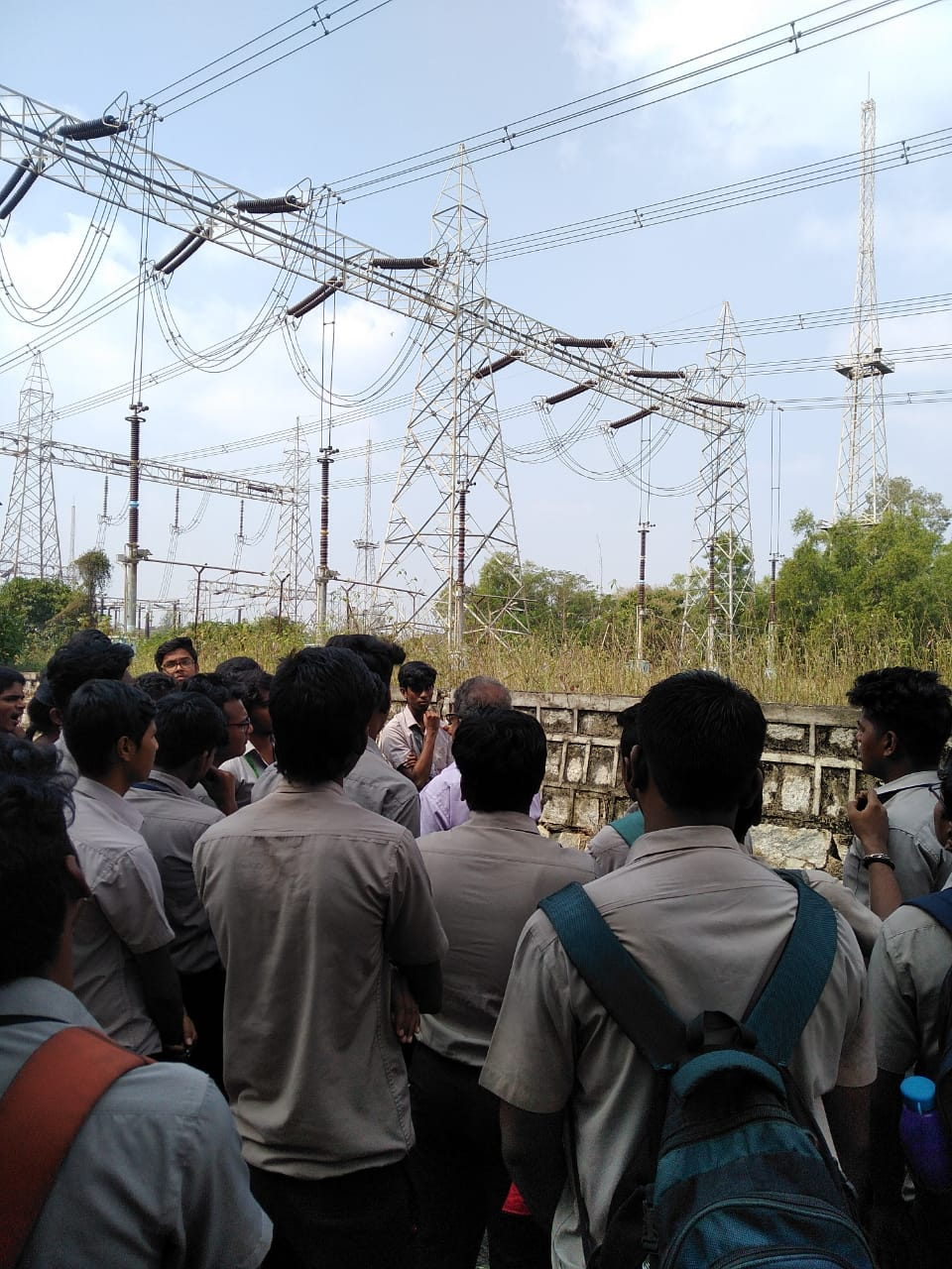 Industrial Visit to Sub Power Station Sriperumbudur by EEE and ECE Students