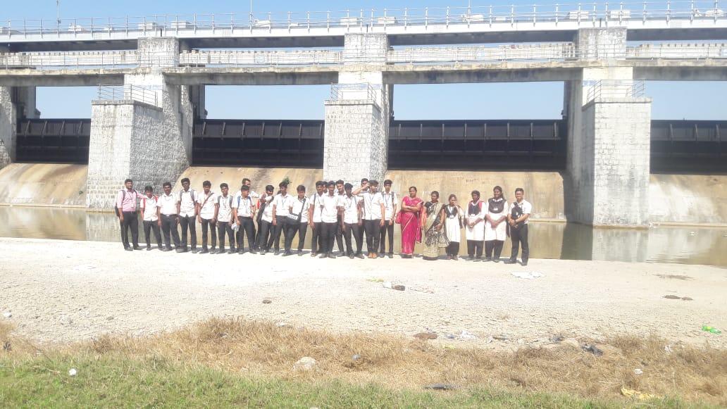 Civil Engineering Students Industrial Visit to Chembarambakkam Lake