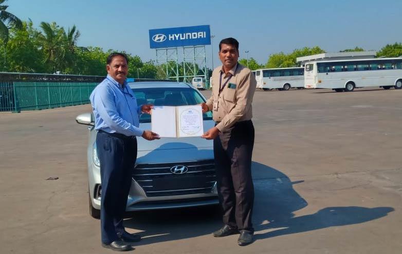 Hyundai Donating a Verna Car to HIET Polytechnic