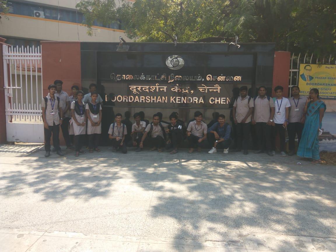 Iindustrial Visit at Doordarshan Kendra